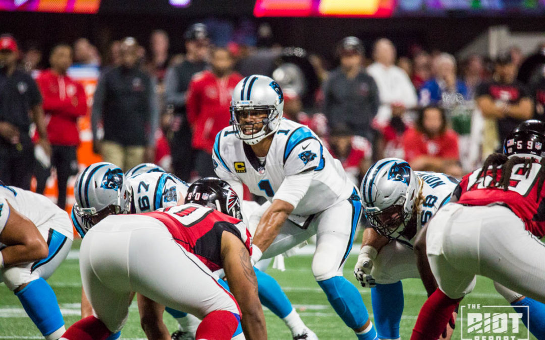 "Cam Newton Takes ""Cheap Shot"" From Falcons Safety"