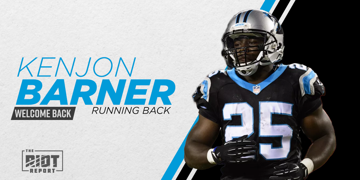 Panthers fill Fozzy Whittaker's spot with familiar face in Kenjon Barner
