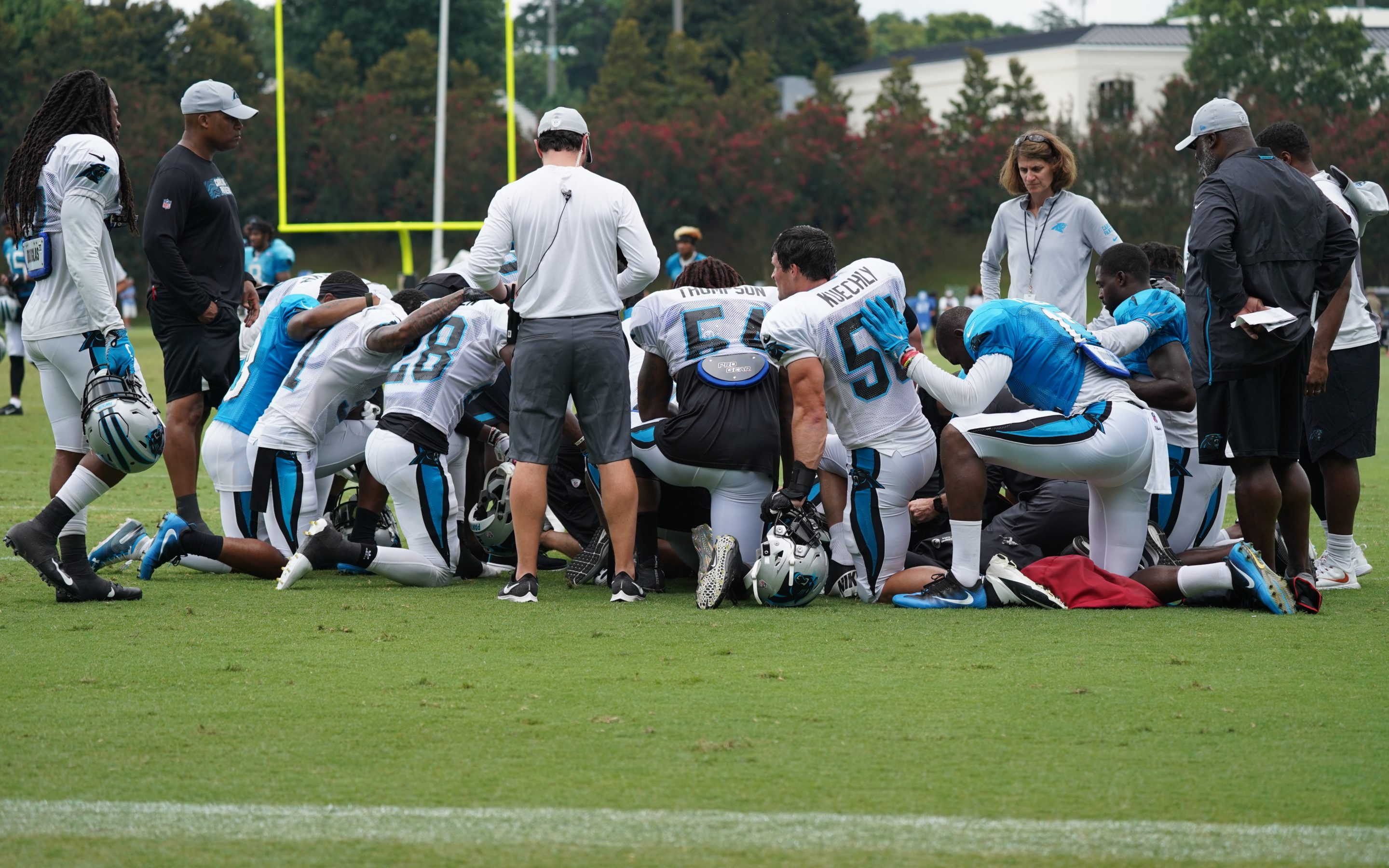 Monday's Panthers Training Camp Session Ends With Another Player Carted Off