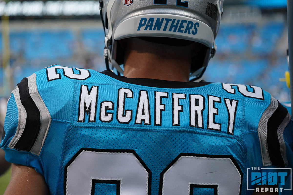 size 40 c4f2b f674e Christian McCaffrey Talks DJ Moore, his Passing Game ...