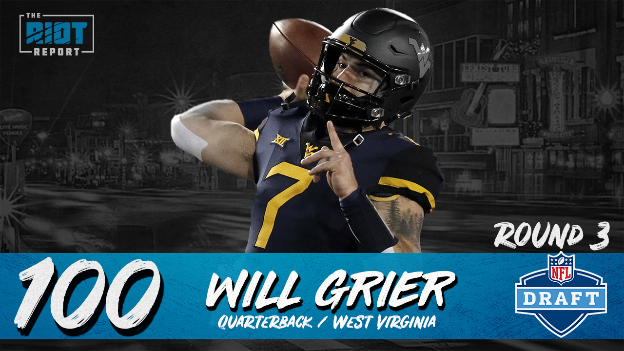 Panthers Select West Virginia Quarterback Will Grier At Pick #100