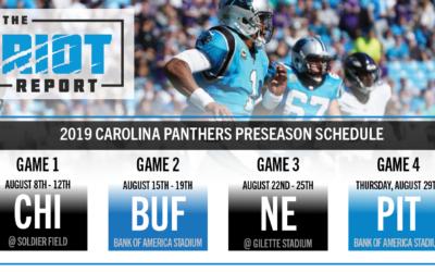 Panthers Release Preseason Schedule