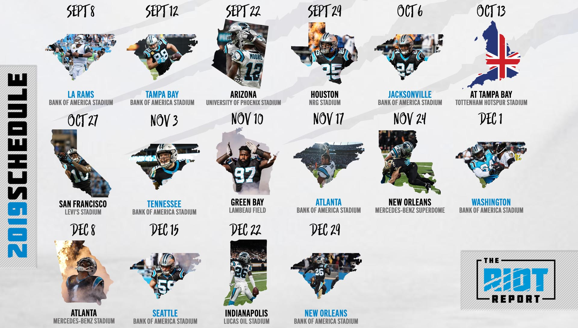 Carolina Panthers Schedule 2019 Panthers 2019 Schedule Is Set | The Riot Report
