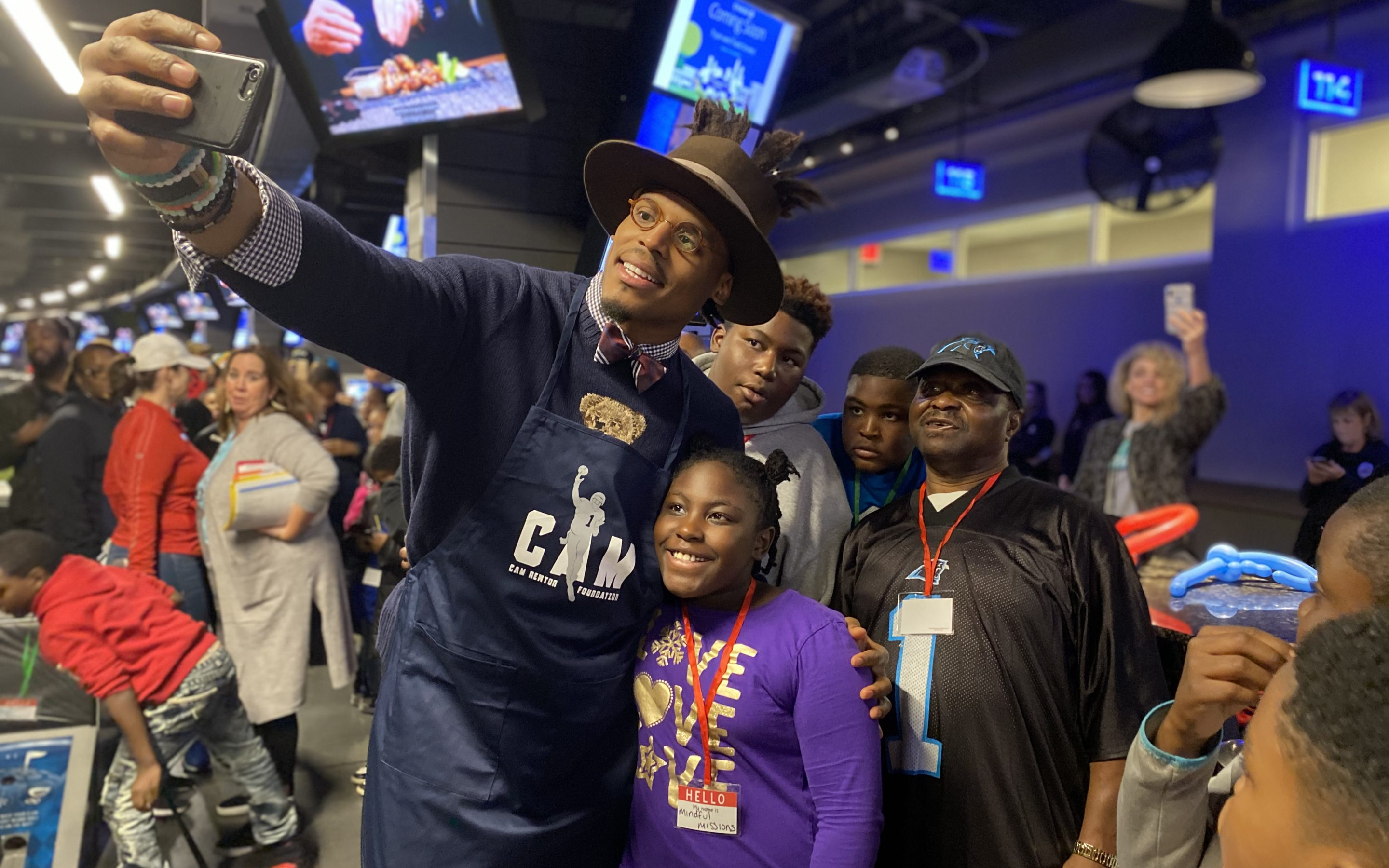 Panthers Fans Help Cam Newton Win Nationwide's Charity Challenge
