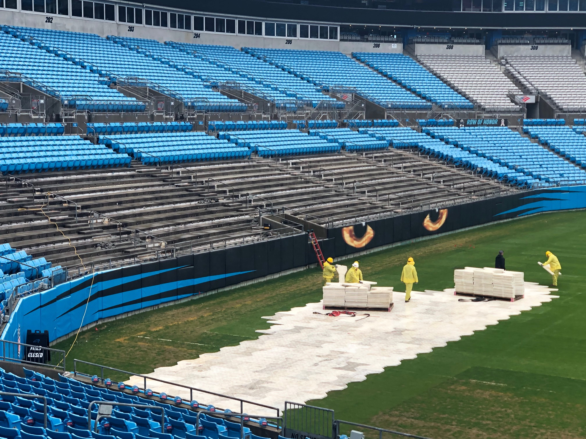 panthers removing seats to create bunker suites | the riot