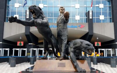 Panthers Taking Down Jerry Richardson Statue Outside Bank of America Stadium