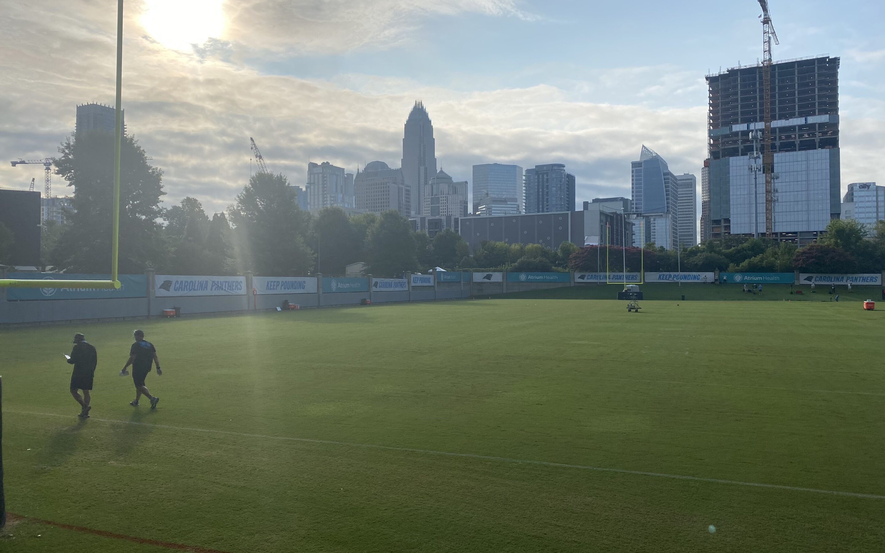 Dispatches From Panthers Training Camp: The First Padded Practice