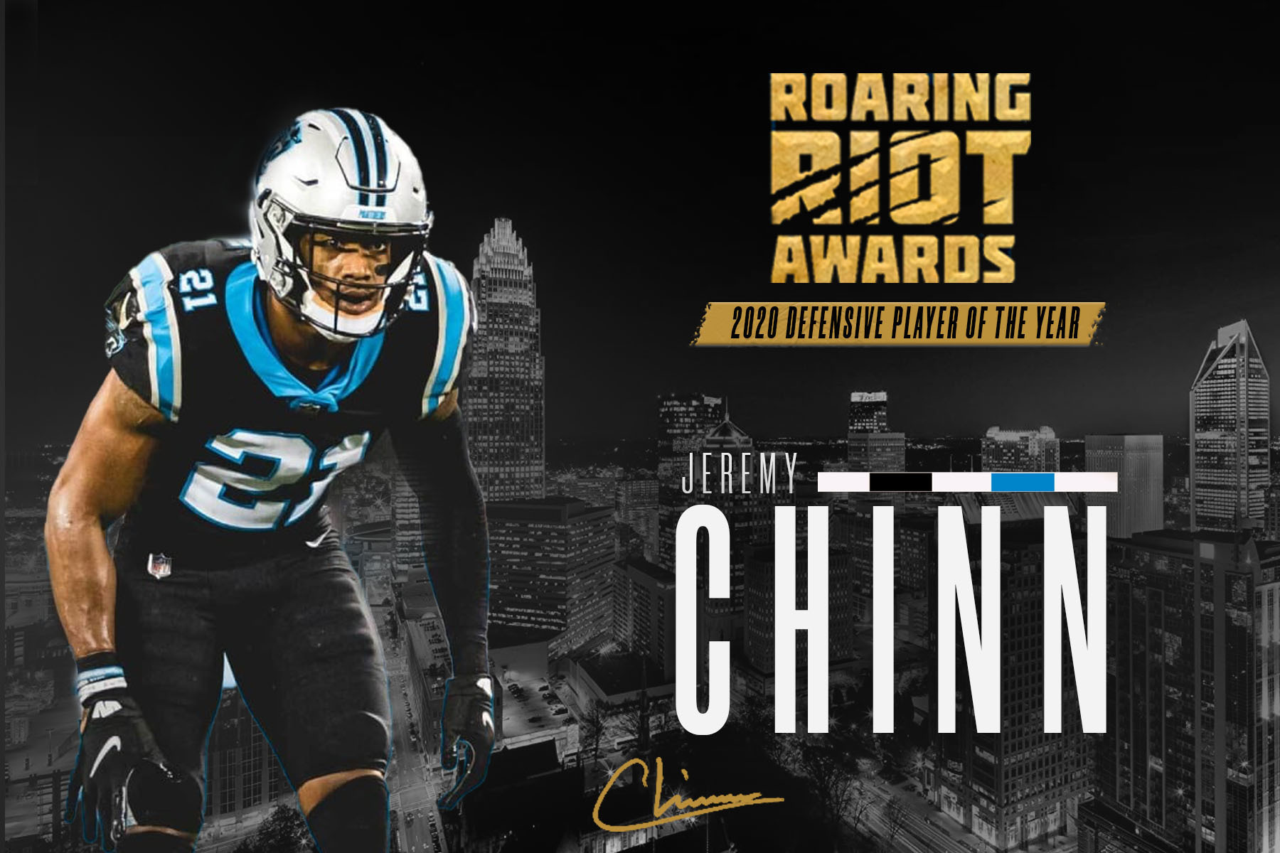 Jeremy Chinn Wins 2020 Roaring Riot Defensive Player Of The Year Award