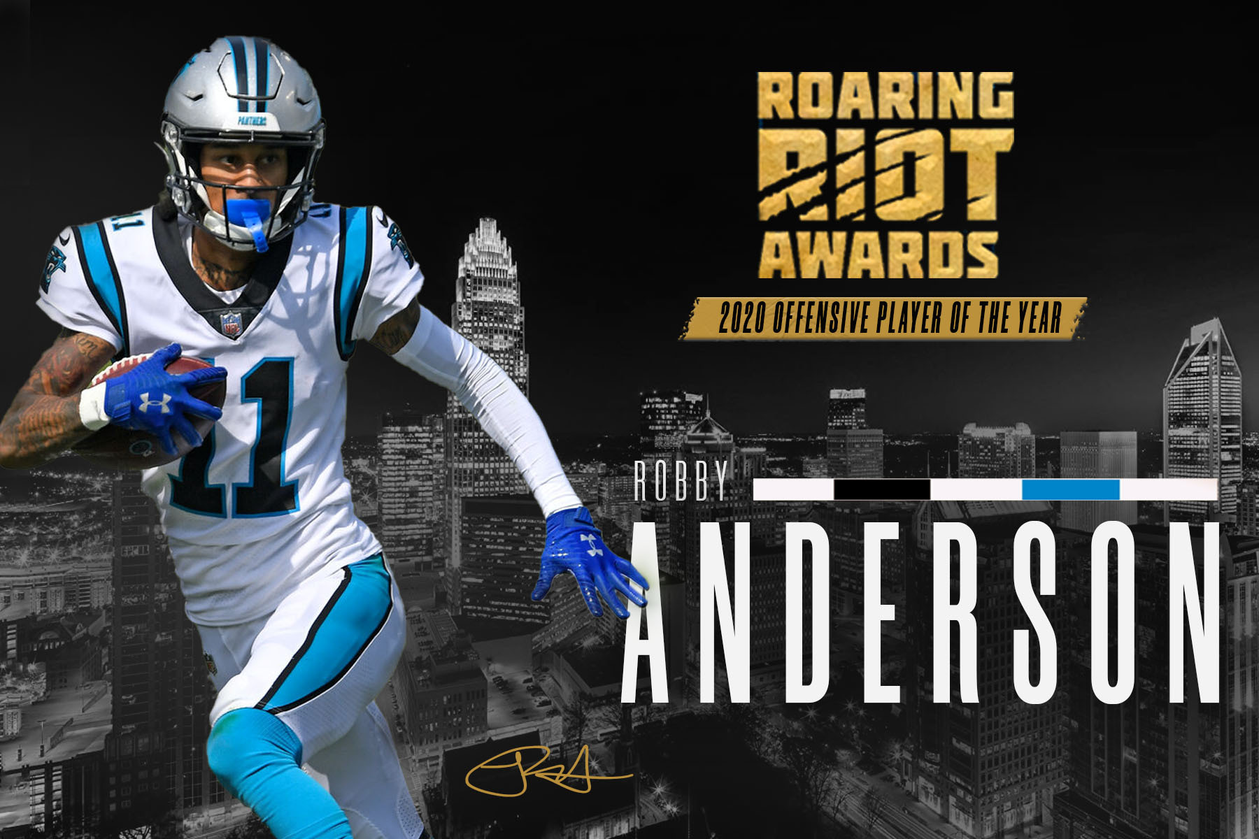 Robby Anderson Wins 2020 Roaring Riot Offensive Player Of The Year Award