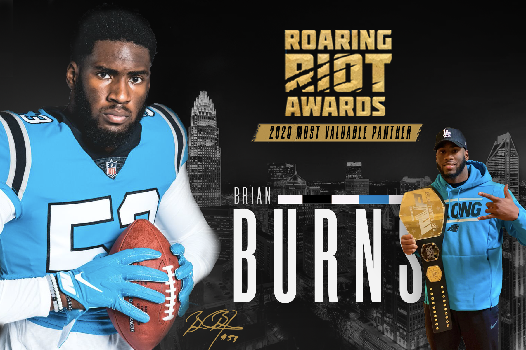 Brian Burns Named 2020 Roaring Riot Most Valuable Panther