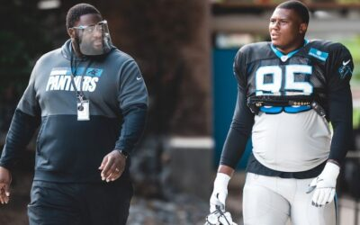 New Panthers' Defensive Line Coach Frank Okam Excited To Help Develop Panthers' Young Defensive Line
